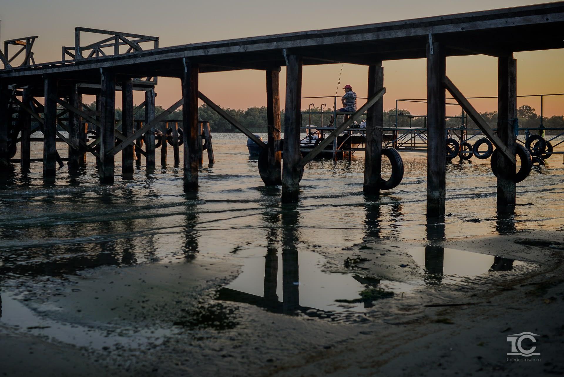 Pescar pe ponton la Sf. Gheorghe
