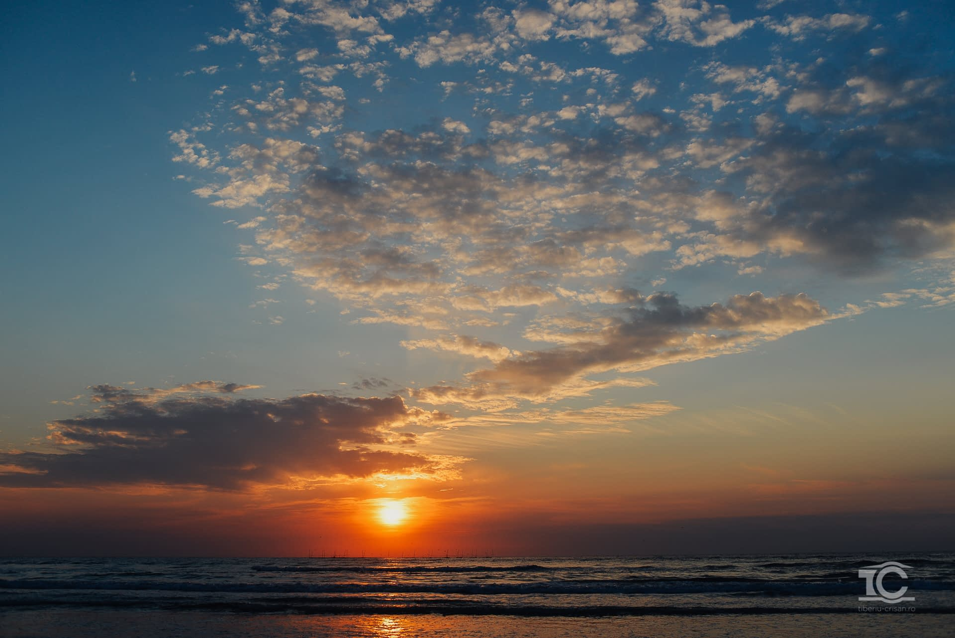 Rasarit pe plaja de la Sf. Gheorghe,