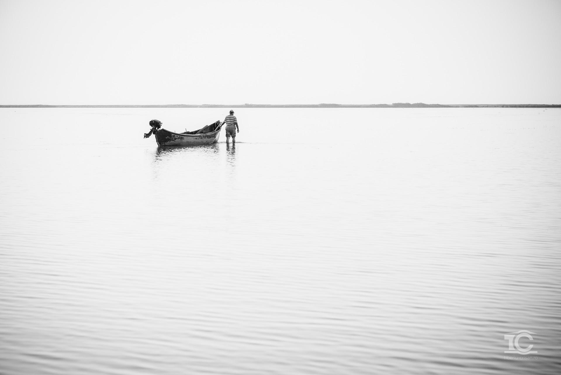 Barca in Laguna Sachalin