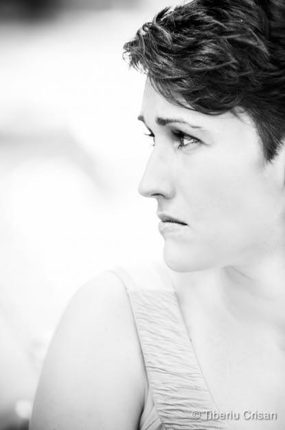 Portret alb negru Ana-Maria