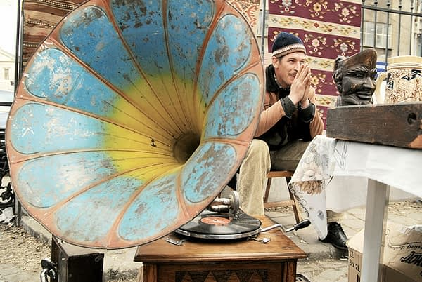 man and his gramophone