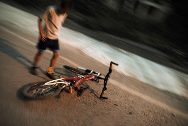 kid and bike